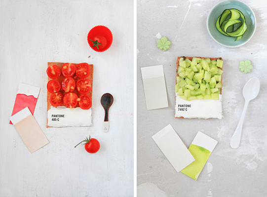 Emilie Griottes pantone colores comestibles tarta tomates pepino