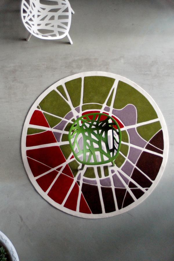Florian Pucher _segundo premio concurso vitra rediseño silla vegetal ronan erwan bourollec alfombra roots vista aerea